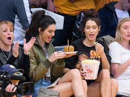 Kendall Jenner and Bella Hadid Show Off Model Legs at the Lakers Game