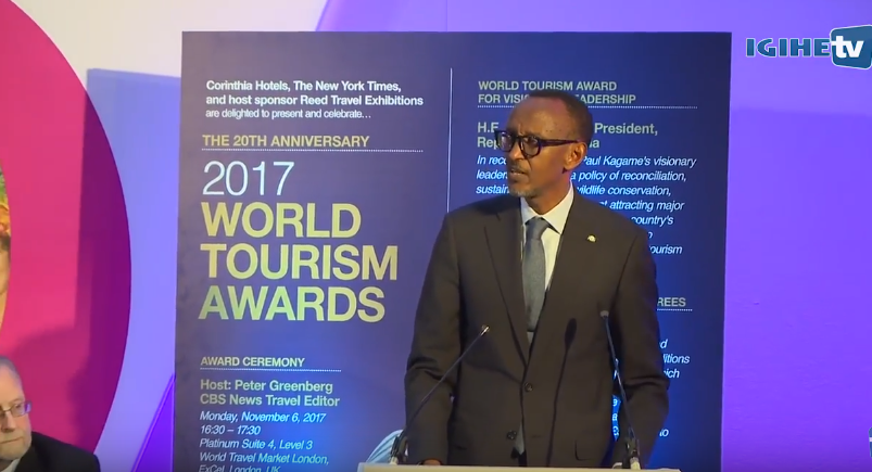Full speech of H.E Paul Kagame at the 20th World Tourism Awards 2017 - London, 6th November 2017