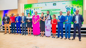 First Lady awards Youth Connekt Champions and young Rwandan achievers 2017 in a colorful event